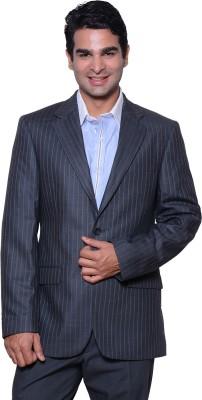 Astitva Striped Single Breasted Formal Men's Blazer