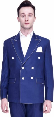 Protext Premium Solid Double Breasted Casual, Party, Formal, Festive, Wedding, Sports Men's Blazer