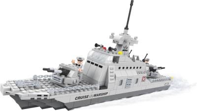 Funblox Army Guard War Bolcks (Cruise Warship, Fighter Plane, Soldier)(Multicolor)22702