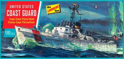 Lindberg USA 1/82 Scale US Coast Guard Cape-Class Patrol Boat Plastic Model Kit(Multicolor)