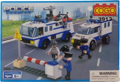 Toy Mall Cogo Police Action Block Set-3913