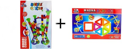 Flying Start Special Offer Magna Blocks 20 pcs + Marble Run 100 pcs combo