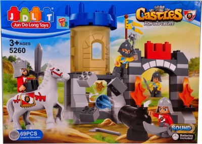 Mera Toy Shop Castles blocks play & create-69 PCS