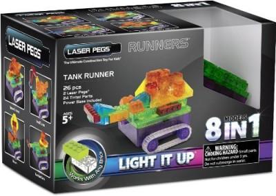 Laser Pegs 8In1 Tank Runner Building Set