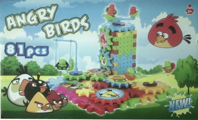 Cartoon Angry Bird Battery Operated Blocks