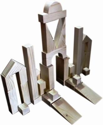 Kinder Creative Building Blocks - Wood Finish