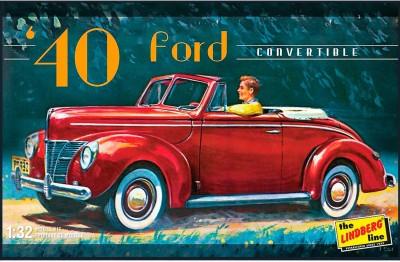 Lindberg USA 1/32 Scale 1940 Ford Convertible Plastic Model Kit