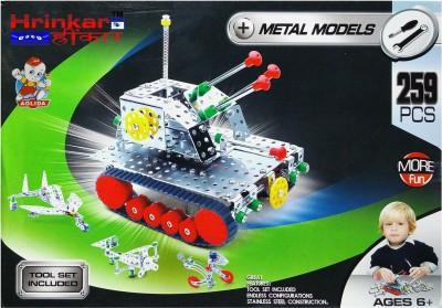Hrinkar Aolida Metal Models fighter Tanker Construction Set 3D Stainless Steel Puzzle 259 Pcs