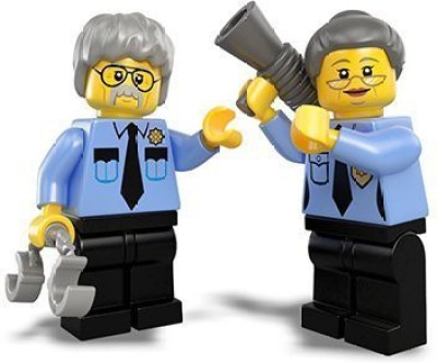 Lego The Movie Loose Minis Ma & Pa Cop Minis Loose(Multicolor)