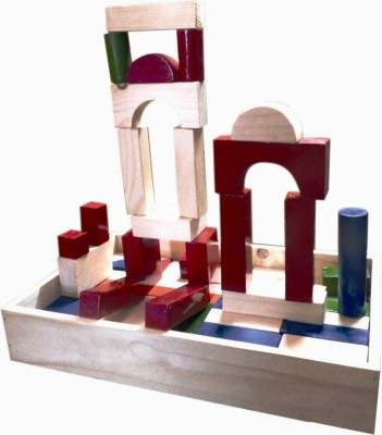 Kinder Creative Building Blocks - Color & Wood Finish