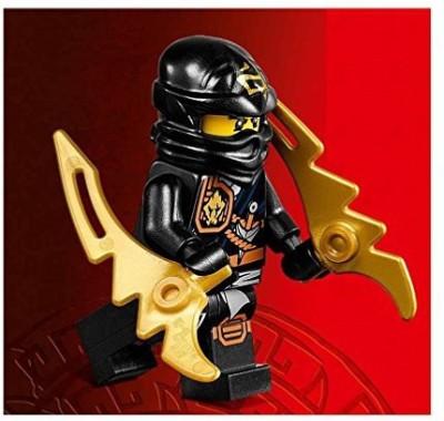 Lego Ninjago Mini Cole Zukin Robe Jungle Black Ninja With Dual