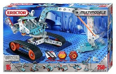 Meccano Erector Multimodel 15 Model Set ( 250+Pieces)