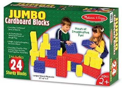 Melissa & Doug 24 Pc Basic Cardboard Blocks