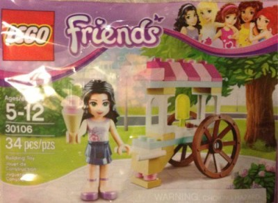 Lego Friends Emma With Ice Cream Cart Stand