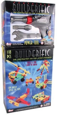 Motormax 118 Piece Builderific With 4 Piece Power Tool Set