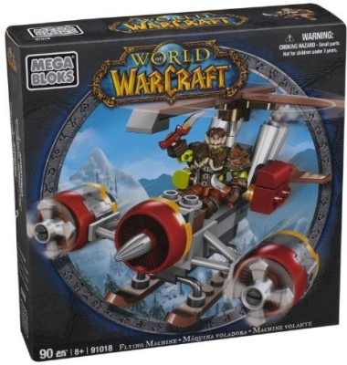 Mega Bloks World Of Warcraft Flying Machine And Flint (Alliance Gnome