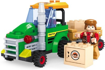 Funblox Farm Tractor With Farmer 103Pcs