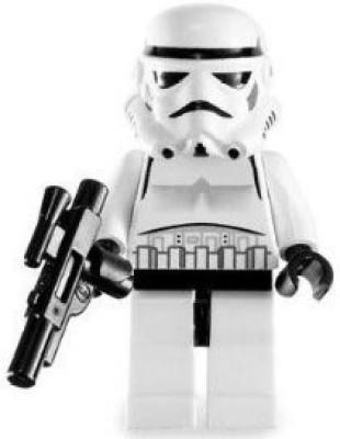 Star Wars Lego Mini Stormtrooper With Blaster Gun (Classic Version)