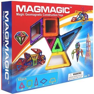 MAGMAGIC Building Magnetic S62 Pcs Stacking Set Designer Creativity