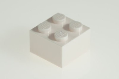 Factory Fresh Bulk Bricks 200X Lego White 2X2 Bricks Super Pack