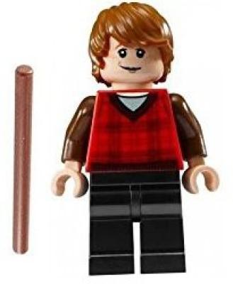 HP Lego Harry Potter Mini Ron Weasley Plaid Shirt Hogwart,,S