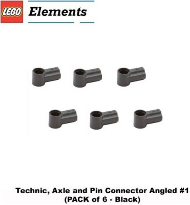 Parts - Technic, Connectors Lego Parts Technicaxle And Pin Connector Angled 1(Black)