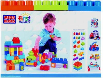 Mega Bloks Mega Bloks First Builders 123 Learning Train - 50Pcs