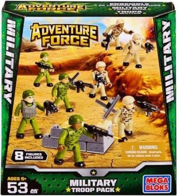 American Builders Mega Bloks Adventure Force Military Troop Pack Set 94423