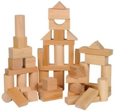 Ryan's Room Small World Toys Wooden Toys - Bag O, Blocks, Natural Wood