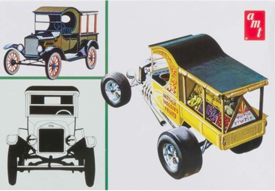 AMT USA 1/25 Scale 1925 Ford T Fruit Wagon Plastic Model Kit