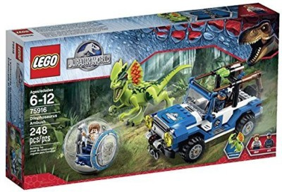 Lego New Jurassic World Dilophosaurus Ambush 75916 Building Kit
