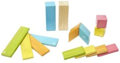 Tegu 14 Piece Magnetic Wooden Block Set, Tints