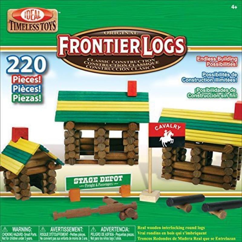 Ideal Frontier Logs Classic All Wood 220Piece Construction Set(Multicolor)