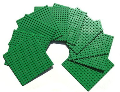 MinifigFans 5Inch 5Inch Green Dots Baseplate Legocompatible 10 Piece