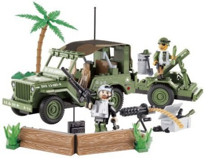 COBI Small Army Jeep Willy,S Military B With Mortar