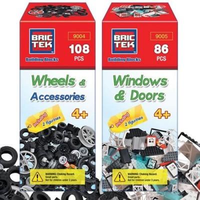 BRICTEK Wheelswindows & Doors Set