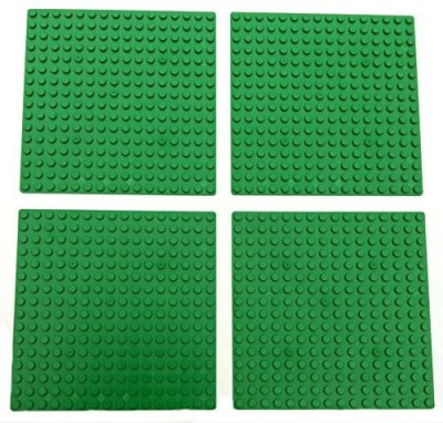 MinifigFans 5Inch 5Inch Green Dots Baseplate Legocompatible 4Pack