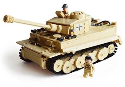 KAZI Blocks Kazi Building Century Military Tiger Tank Heer 82011 995Pcs(Brown)