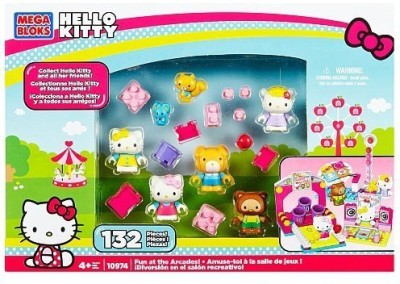 Hello Kitty Mega Bloks Thomas Tracy Fun At The Arcades Set 10974