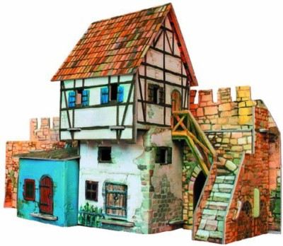 Clever Paper House Near The Wall Building Kit With