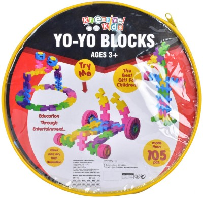 Kreative Kids Yo-Yo Blocks 105 - More Than One Hundred Five Pcs.- Age 3+
