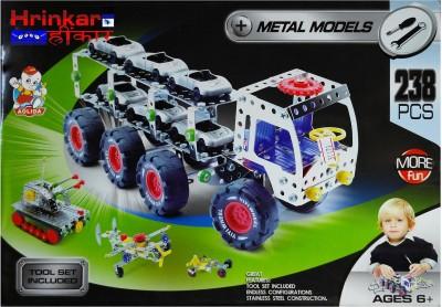 Hrinkar Aolida Metal Models Truck Construction Set 3D Stainless Steel Puzzle 238 Pcs