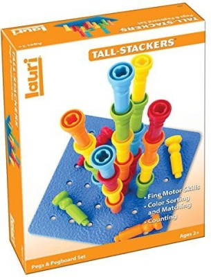 Lauri Tall-Stacker Pegs & Pegboard Set