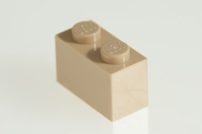 Factory Fresh Bulk Bricks 200X Lego Brickyellow (Tan) 1X2 Bricks Super Pack