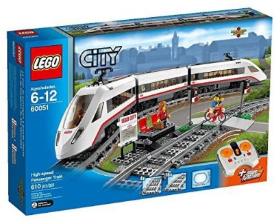 Lego City Trains Highspeed Passenger Train 60051 Building(Multicolor)
