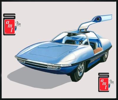 AMT USA 1/25 Scale Piranha Super Spy Car Plastic Model Kit