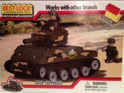 Army tank Bestlock Sherman Tank With 2(160 Piece Set)
