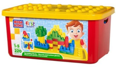 Mega Bloks First Builders Big Building Bloks 220 Pieces Tub (Classic)