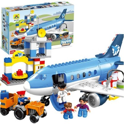 Building Mart Happy City Airport Block Building Set - 69 Pieces