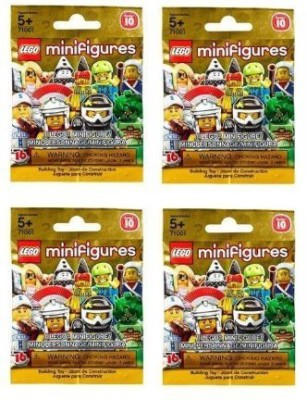 Lego Series 10 Minis Sealed Random Pack Of 4